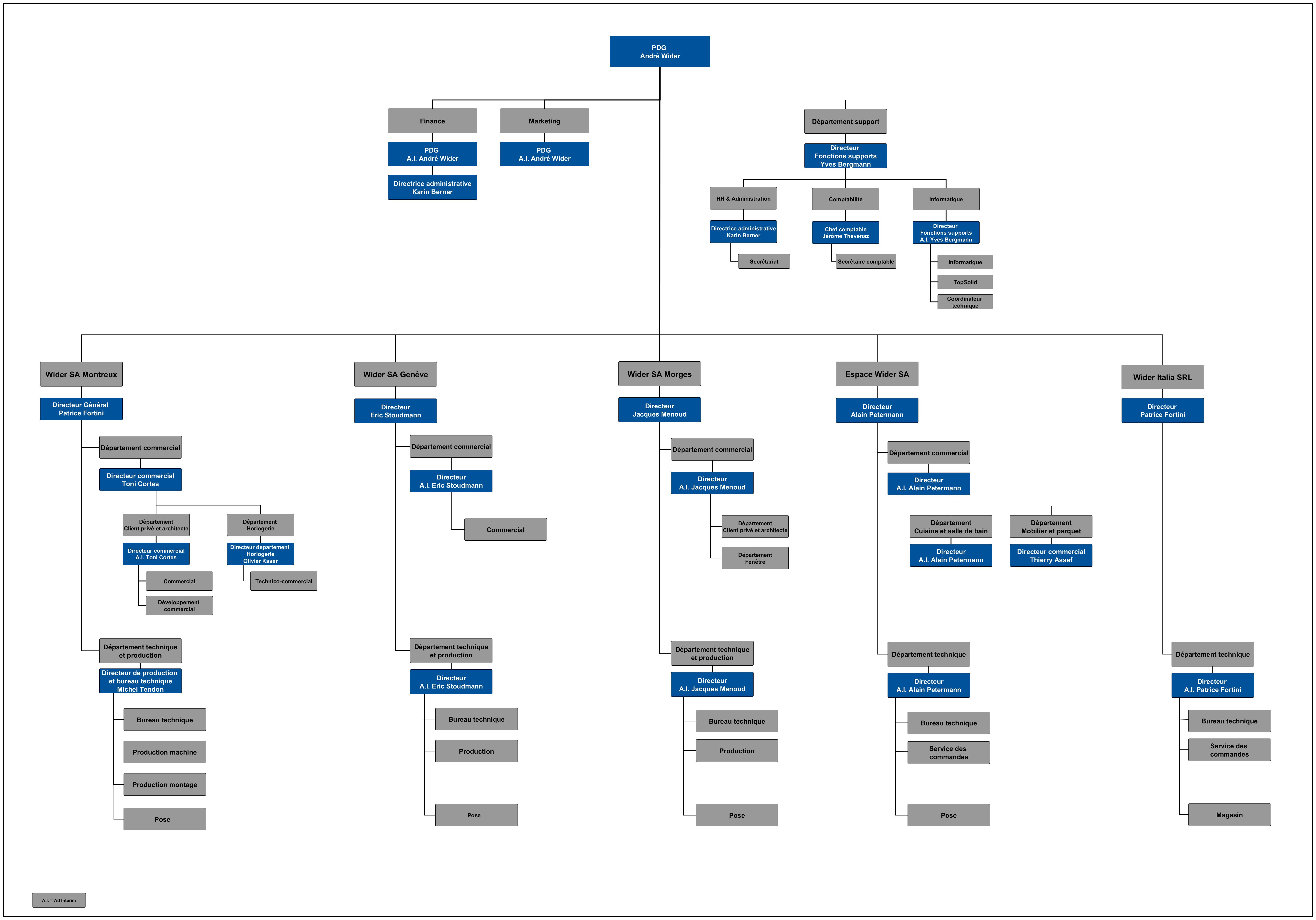Organisation Chart of Wider Companies